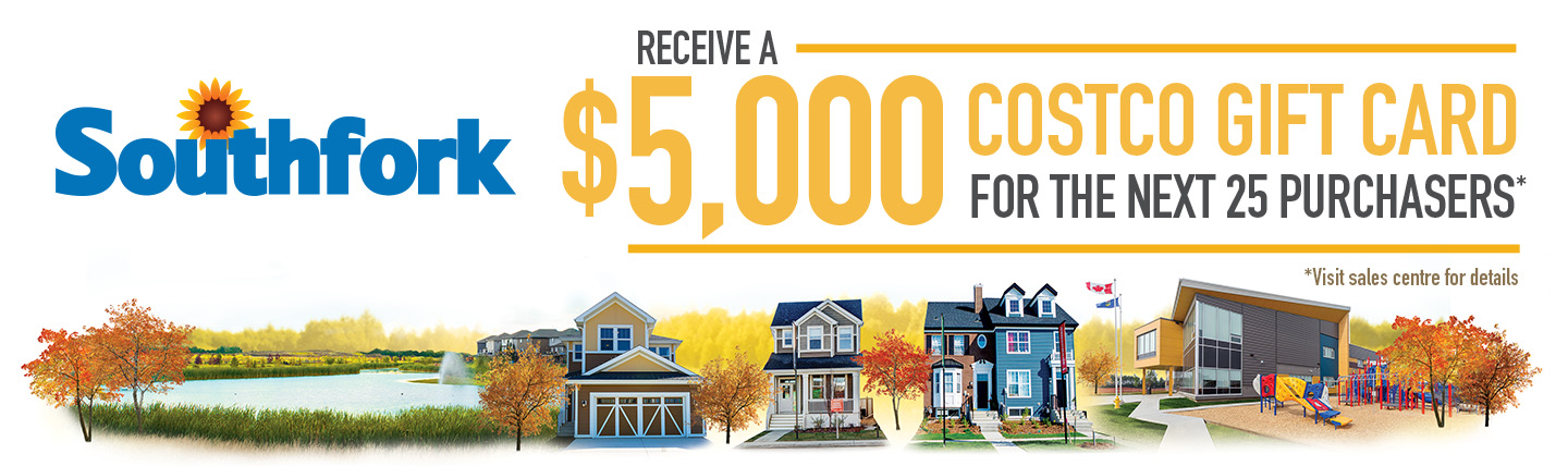 First 25 home purchasers receive $5,000 costco gift card